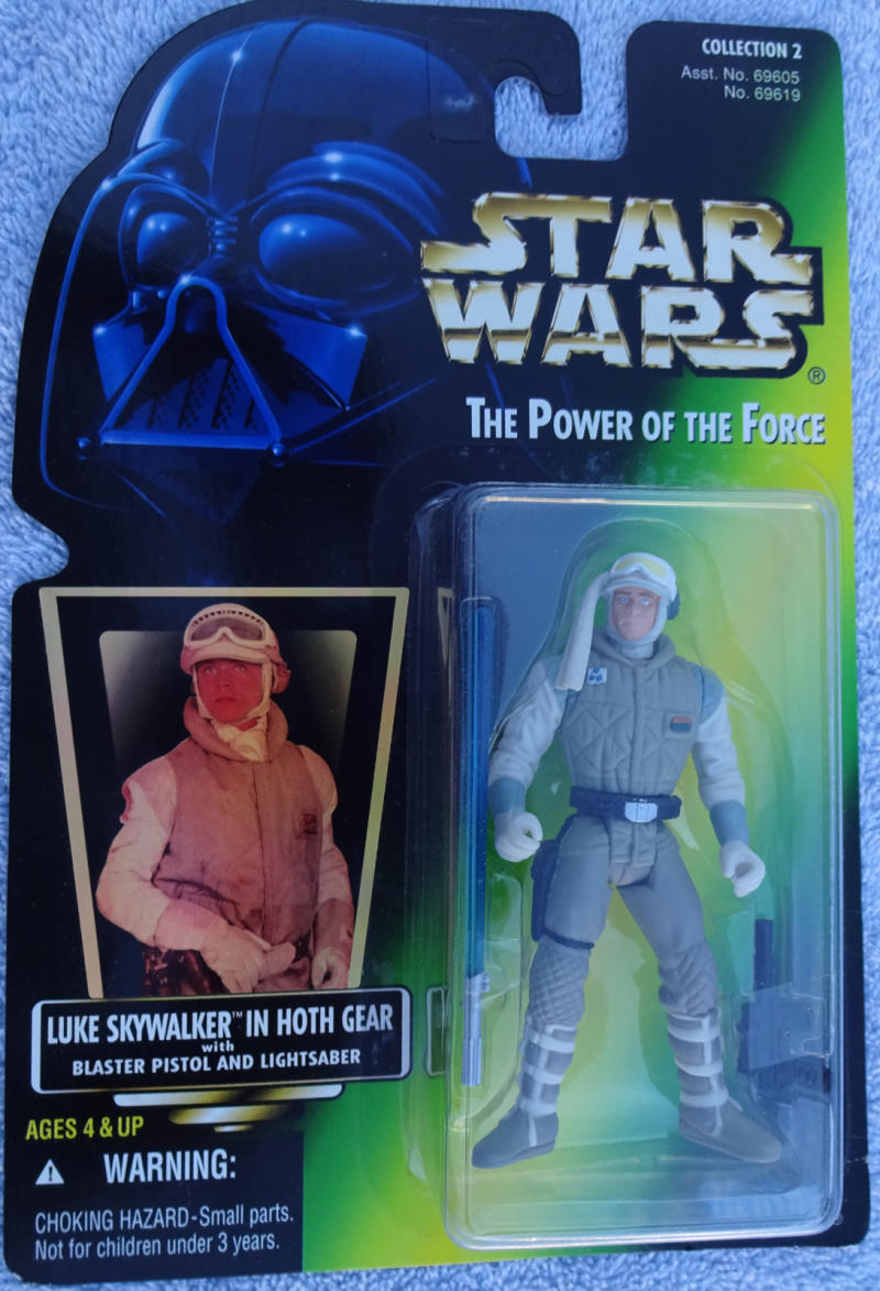 STAR WARS Power of the Force Action Figure, LUKE SKYWALKER, w/ Saber Gun,1996