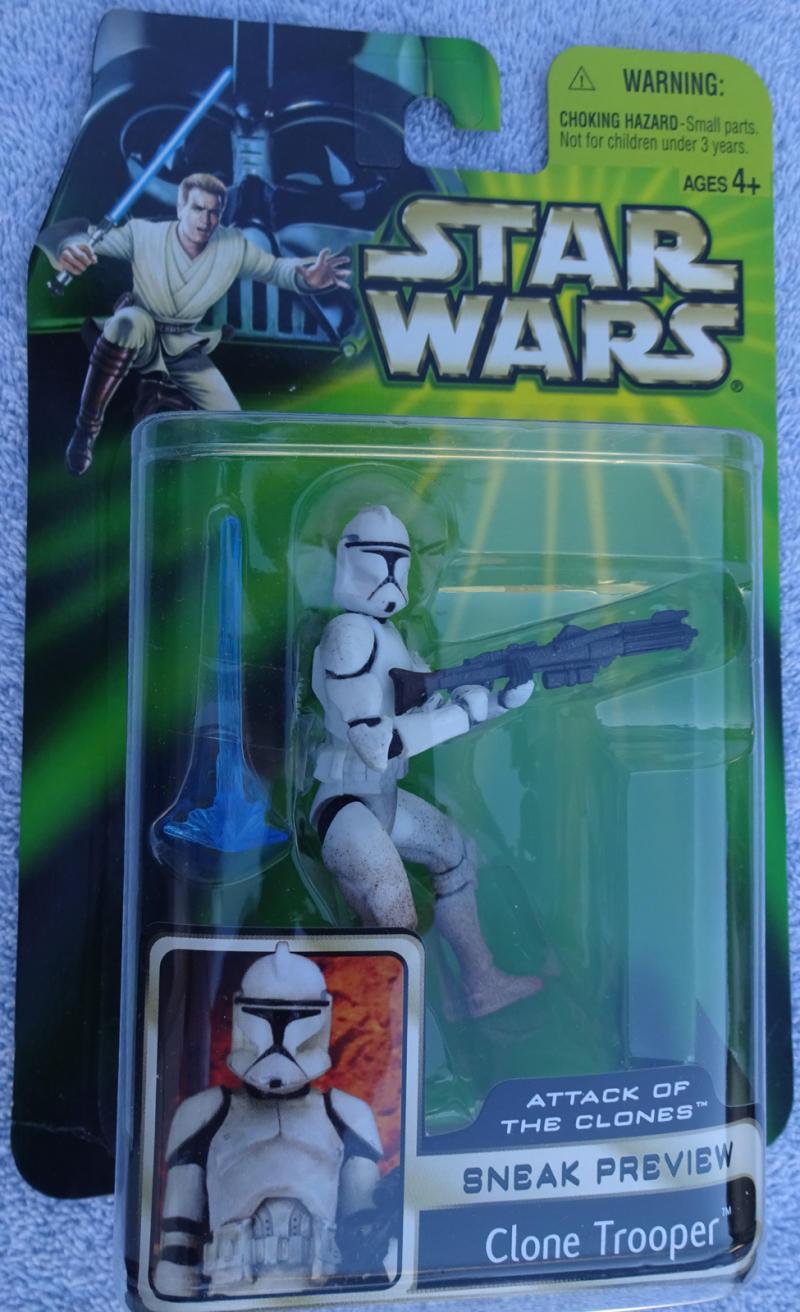 STAR WARS Attack of the Clones Action Figure, STORM TROOPER, w/ Gun, Sneak, 2001
