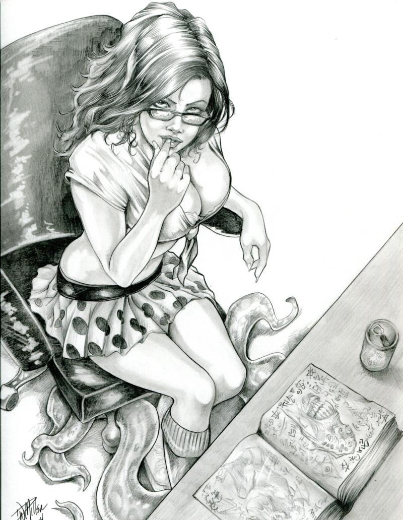 DAVE MILLER original published art, Cover of Compendium, 9