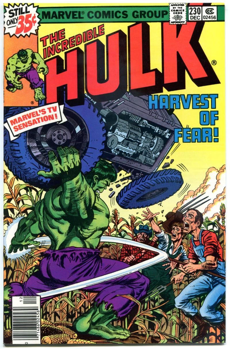 HULK #230, VF+, Incredible, Bruce Banner, Harvest of Fear, 1968, more in store