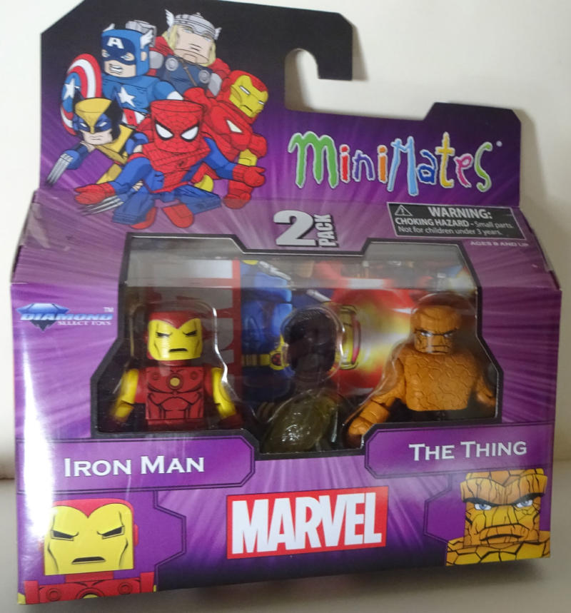 MARVEL MINIMATES - set with IRON MAN and THE THING, pack, MIB, New, Sealed