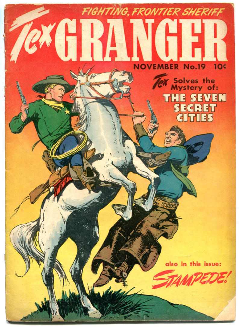 TEX GRANGER #19, Fair/Good, 1948, Golden Age, Western, Frontier Sheriff