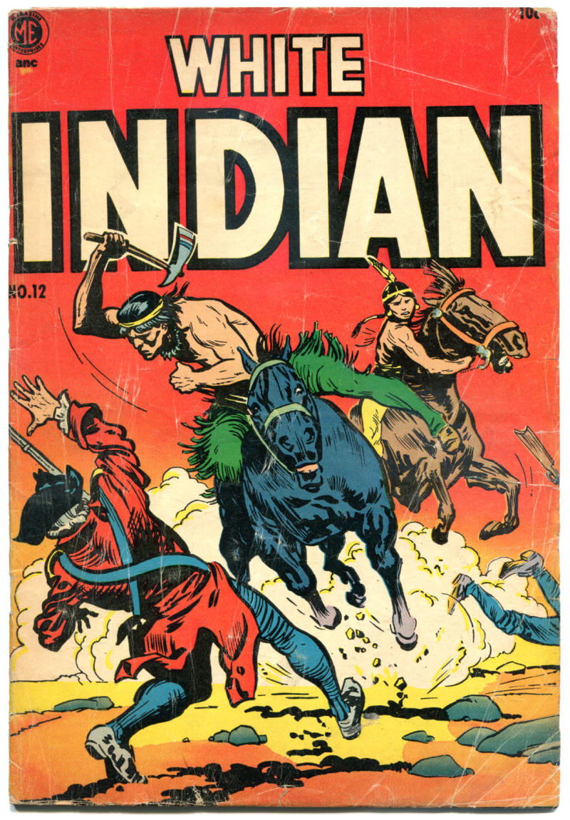 WHITE INDIAN #12, GD/VG, 1953, Golden Age, Western, Frank Frazetta, Valley Forge