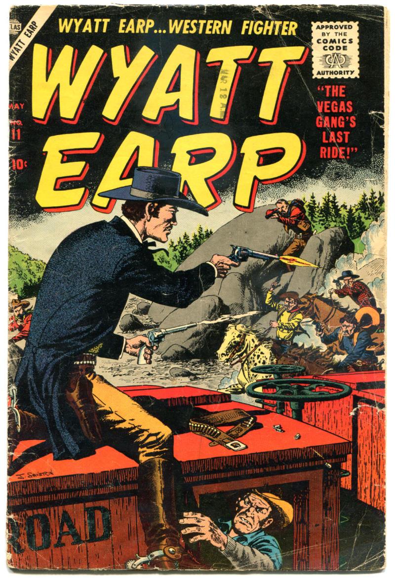 WYATT EARP #11, GD/VG, 1955, Golden Age, Western, Atlas, Frontier Marshal