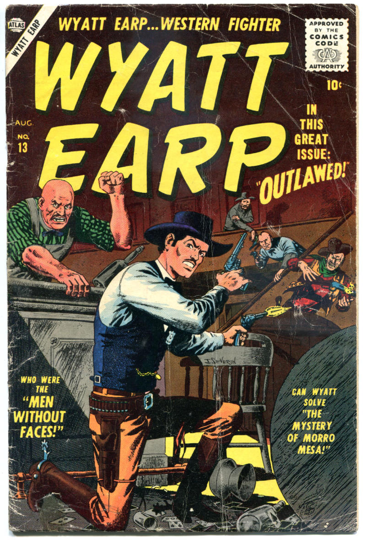 WYATT EARP #13, GD/VG, 1955, Golden Age, Western, Atlas, Frontier Marshal