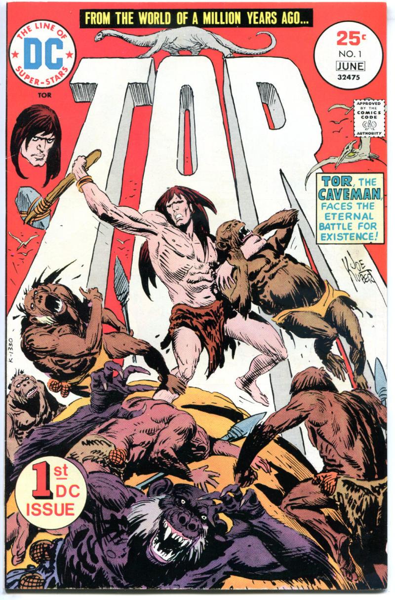 TOR #1, VF/NM, Joe Kubert, Caveman, Dinosaurs, 1975, more DC BRONZE age in store