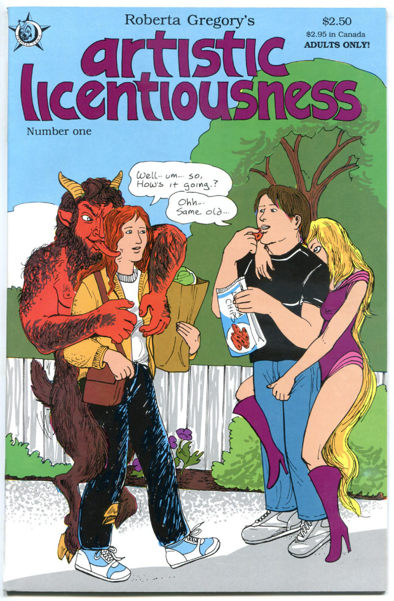 ARTISTIC LICENTIOUSNESS #1, NM-, Adult, Roberta Gregory, 1991, more in store