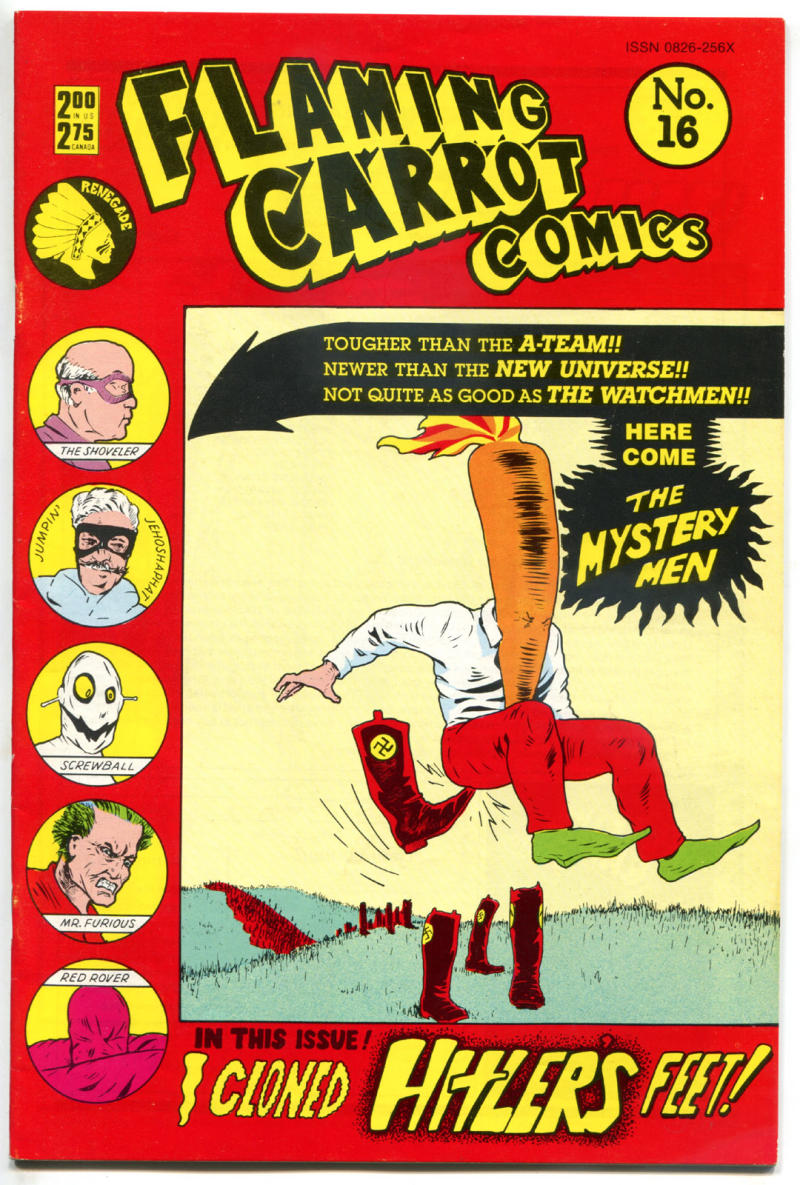 FLAMING CARROT #16, VF, Bob Burden, Renegade, Mystery Men, 1984,more FC in store