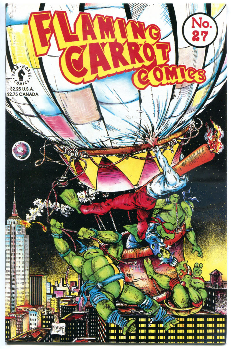 FLAMING CARROT #27, VF, Burden, Teenage Mutant Ninja Turtles, Todd McFarlane