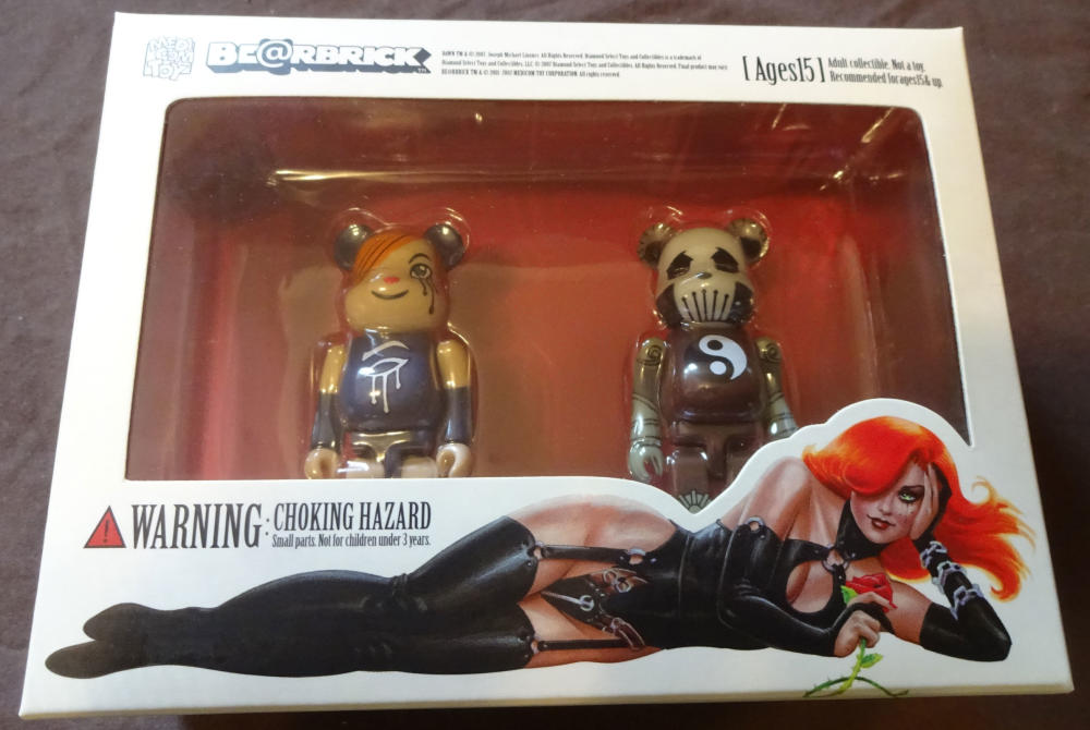 DAWN and DEATH Bearbrick set, NM, 2007, Joseph Linsner, more JML in store