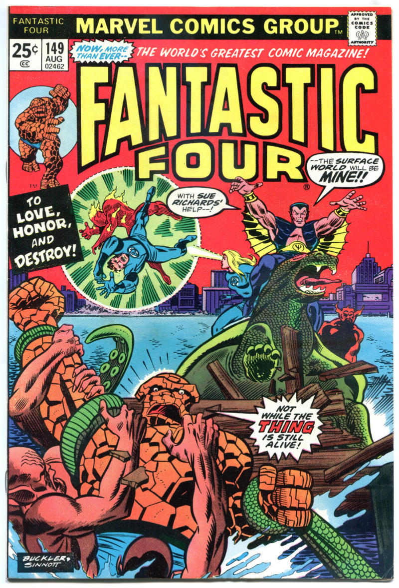 FANTASTIC FOUR #149, VF, Thing vs Sub-Mariner, 1961, more Marvel in store