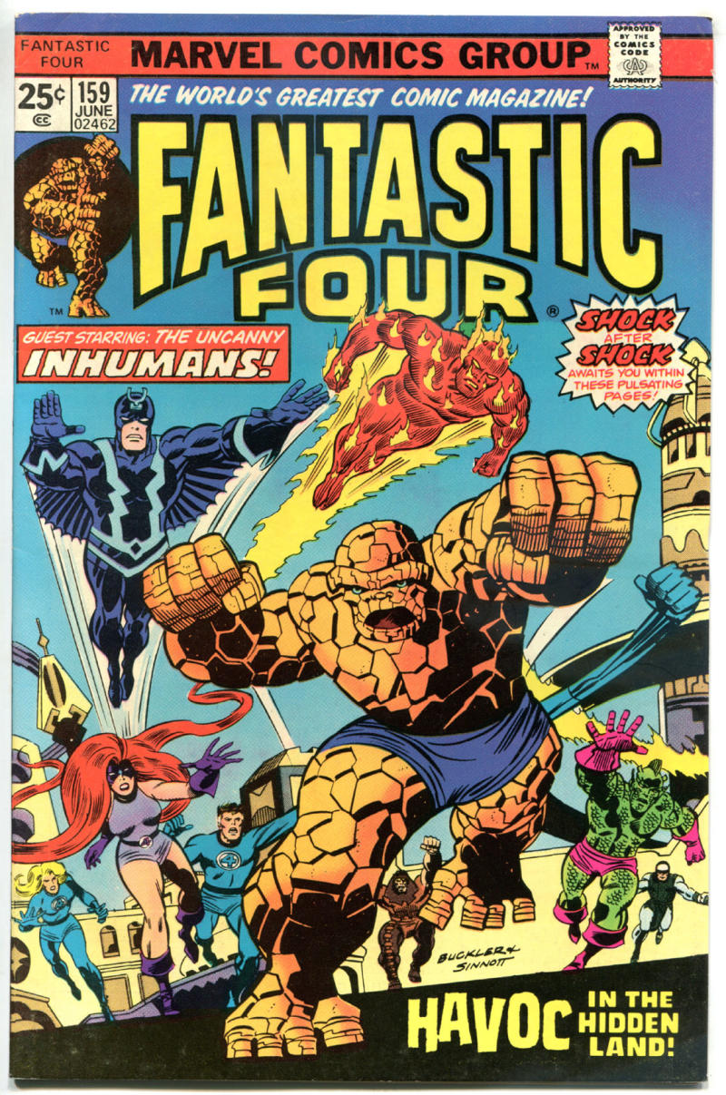 FANTASTIC FOUR #159, FN/VF, InHumans, Black Bolt, 1961, more Marvel in store