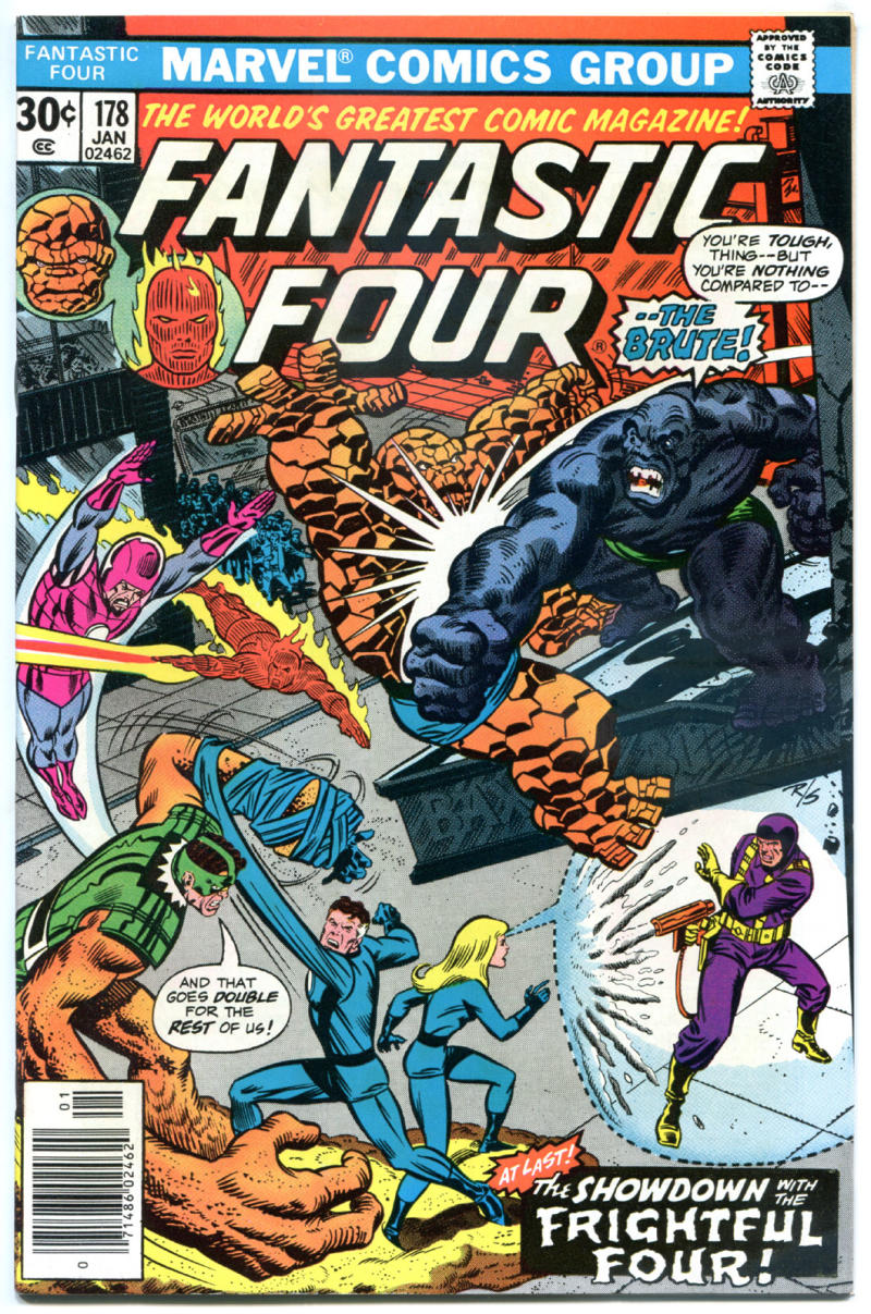 FANTASTIC FOUR #178, VF, Brute, FrightFul Four, 1961, more Marvel in store