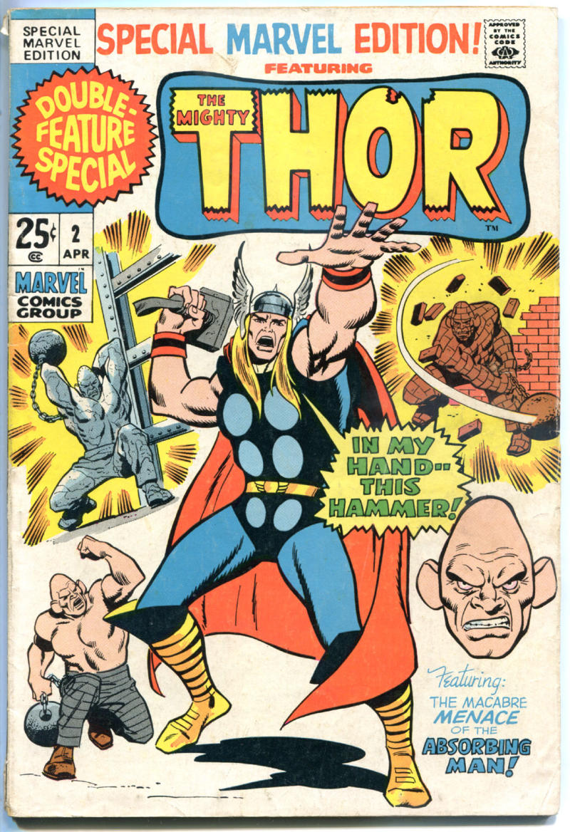 SPECIAL MARVEL EDITION #2, VG-, God of Thunder, Thor, 1971, Jack Kirby, Stan Lee