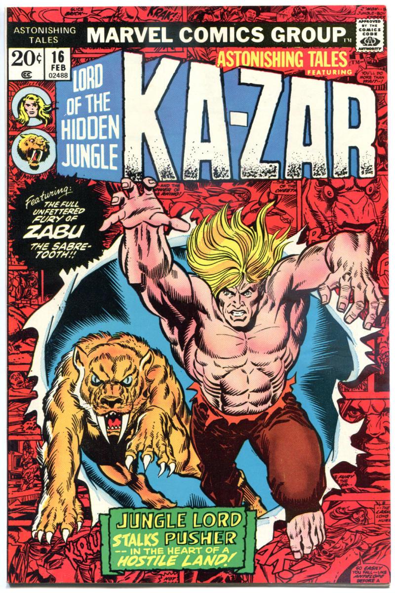ASTONISHING TALES #16, VF+, Ka-Zar, Jungle Lord, 1970 1972, more Bronze in store
