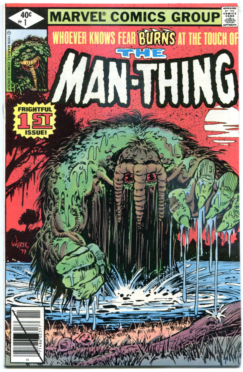 MAN-THING #1, NM-, Swamp Thing, Jim Mooney, 1979, Fear, more Bronze age in store