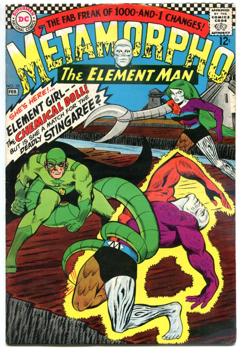 METAMORPHO #10, FN/VF, Elemental Man, 1st Element Girl, 1965 1967, Sapphire