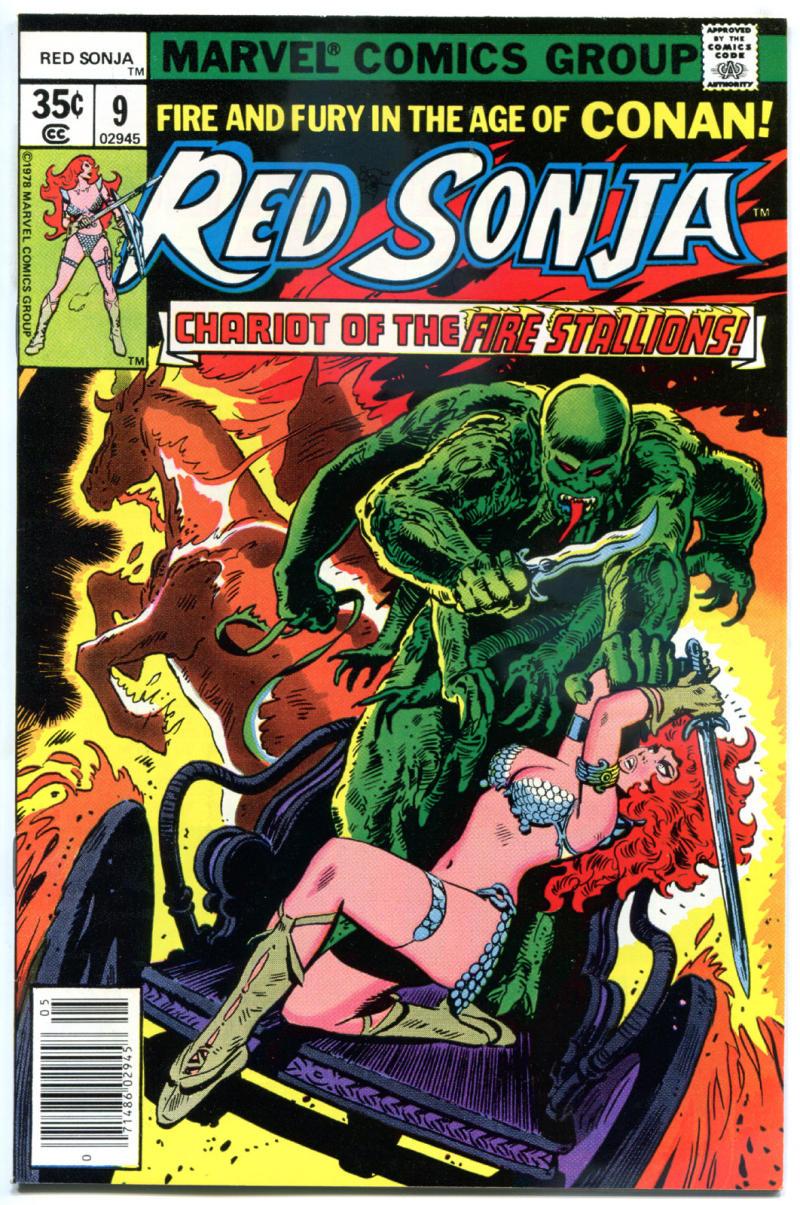 RED SONJA #9, VF+, Robert E Howard, She-Devil Sword, Frank Thorne,1977 1978