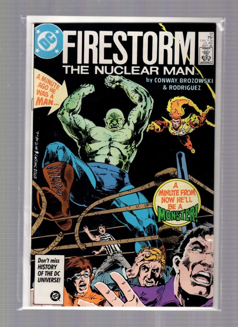 FIRESTORM THE NUCLEAR MAN #51, VF/NM, DC, 1982 1986, more DC in store