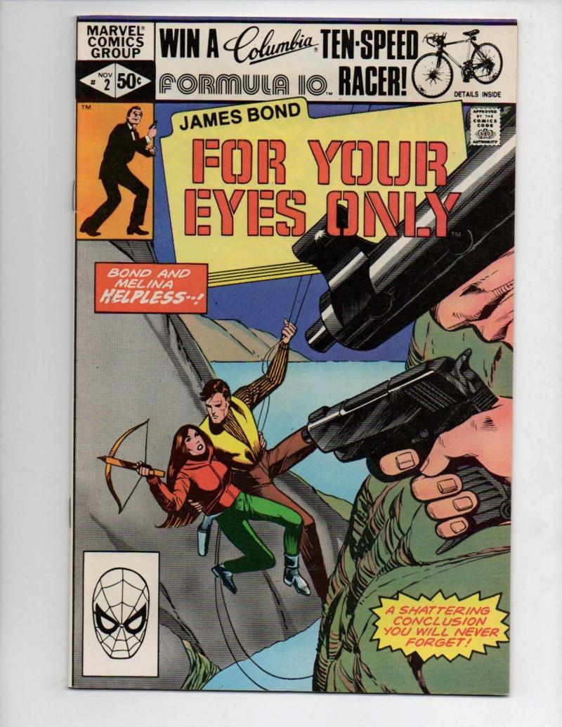 James Bond FOR YOUR EYES ONLY #2, VF/NM, 007, Marvel, 1981 more in store