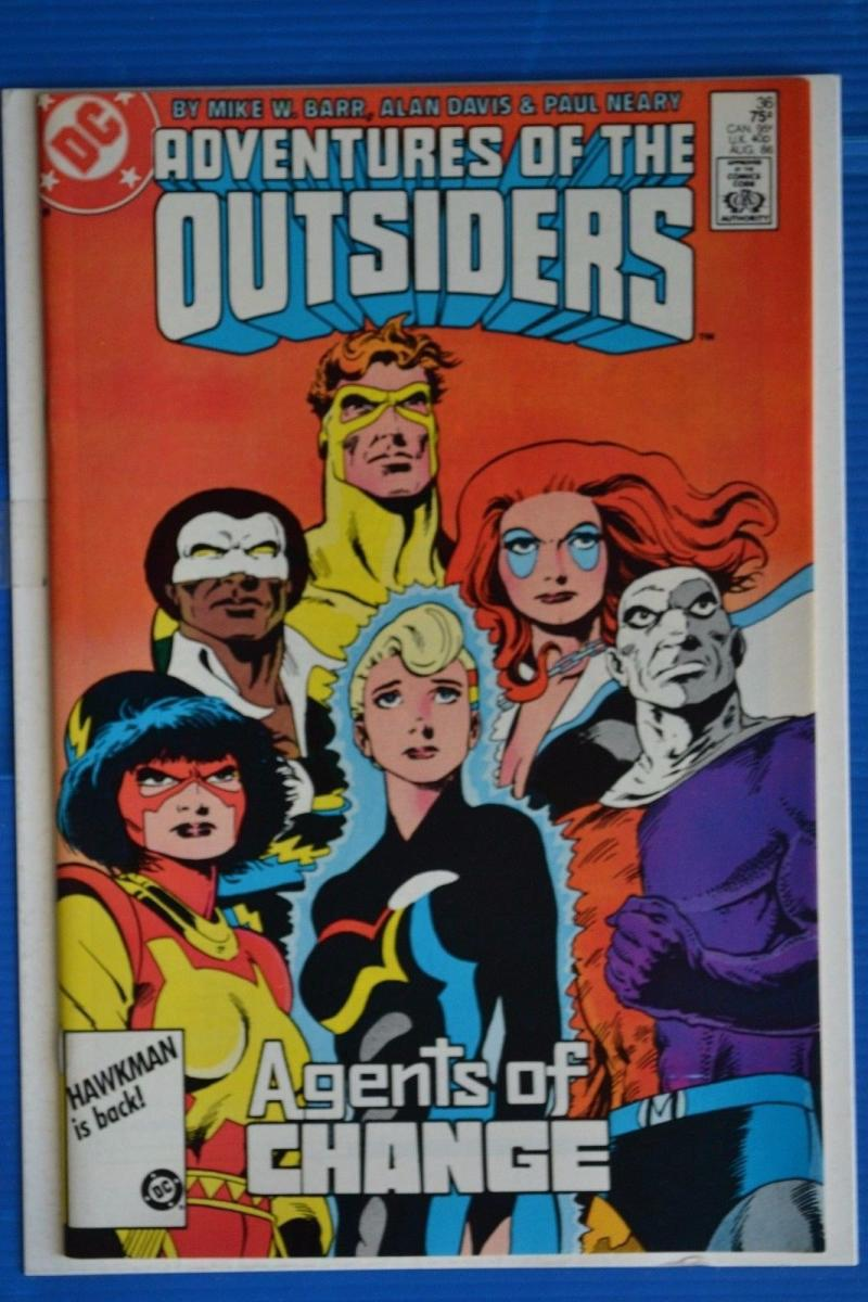 ADVENTURES OF THE OUTSIDERS #36, VF/NM , Barr, DC,1986, more in store