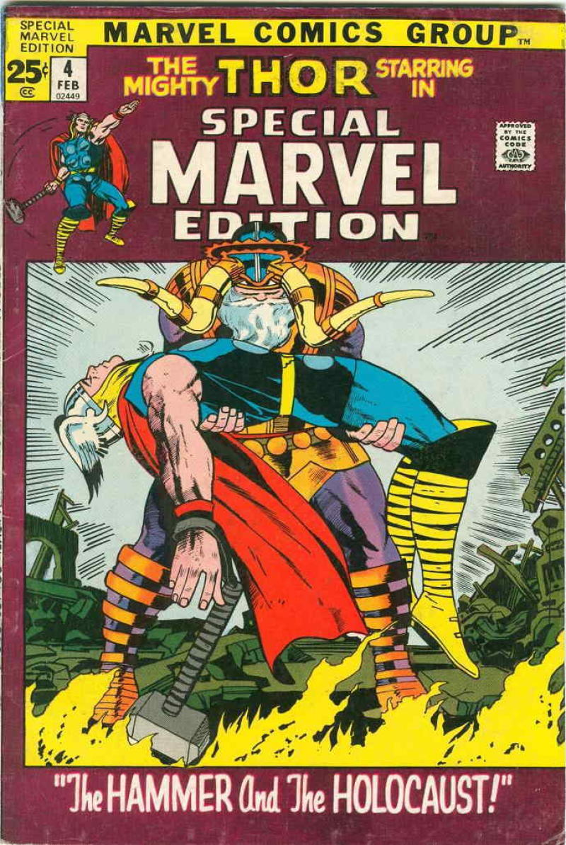 SPECIAL MARVEL EDITION #4, VG+, God of Thunder, Thor, 1971 1972, Jack Kirby