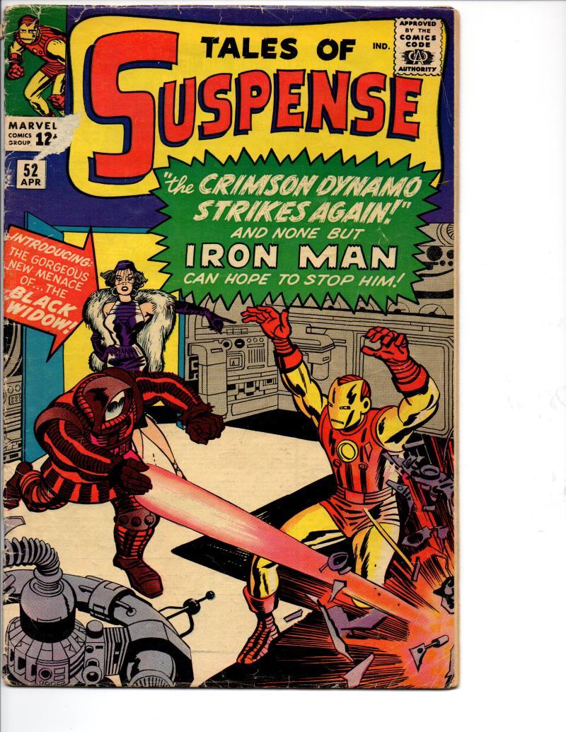 TALES of SUSPENSE #52, VG-, 1st Black Widow, Iron Man, 1959 1964, Marvel