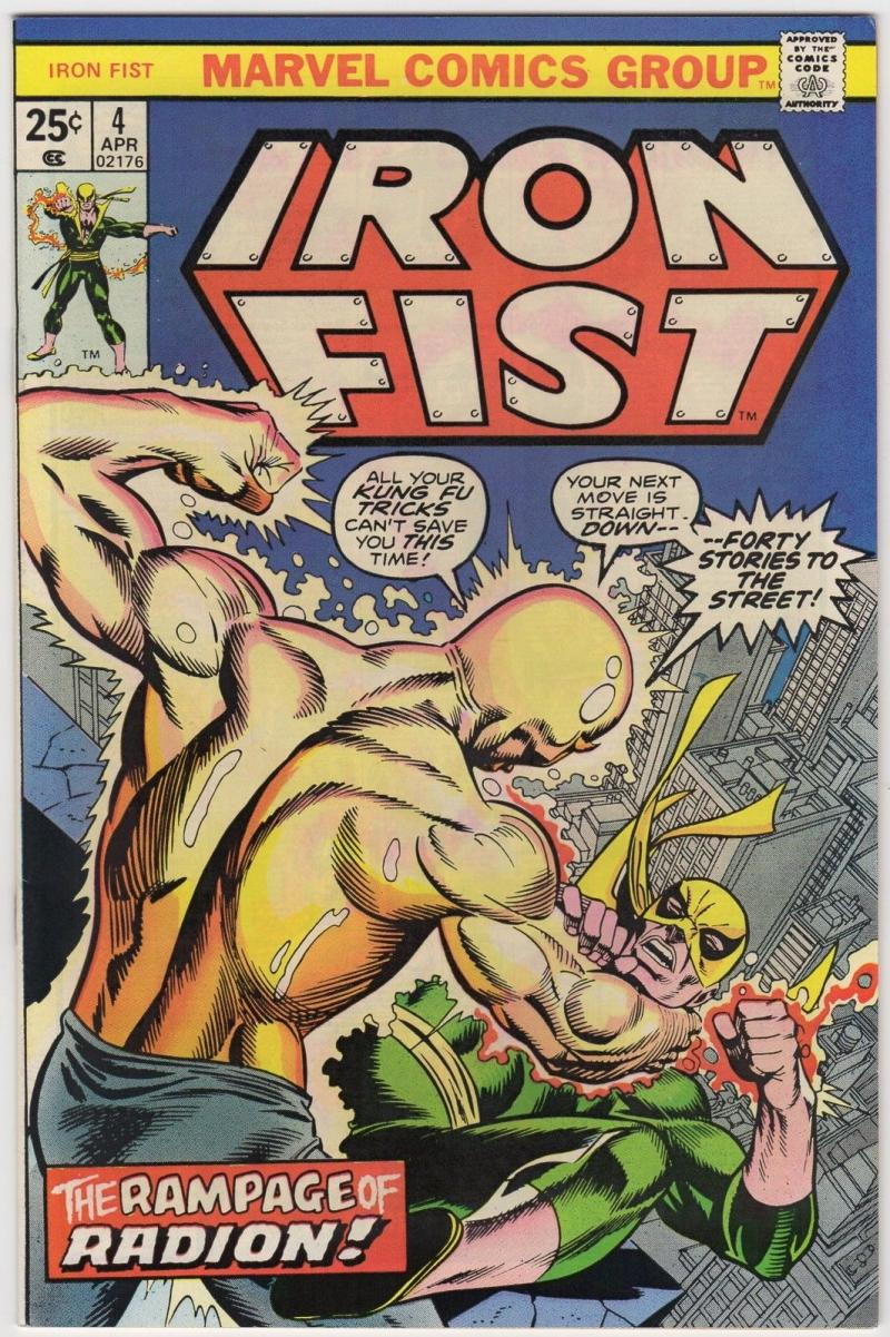 IRON FIST #4, VF+, Radion, Claremont, John Byrne, 1975 1976, more in store