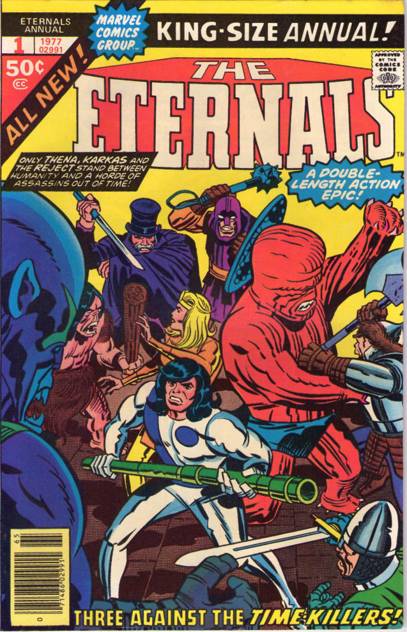 ETERNALS #1 Annual, VF, Jack Kirby, Marvel, King Size,1976 1977,more JK in store