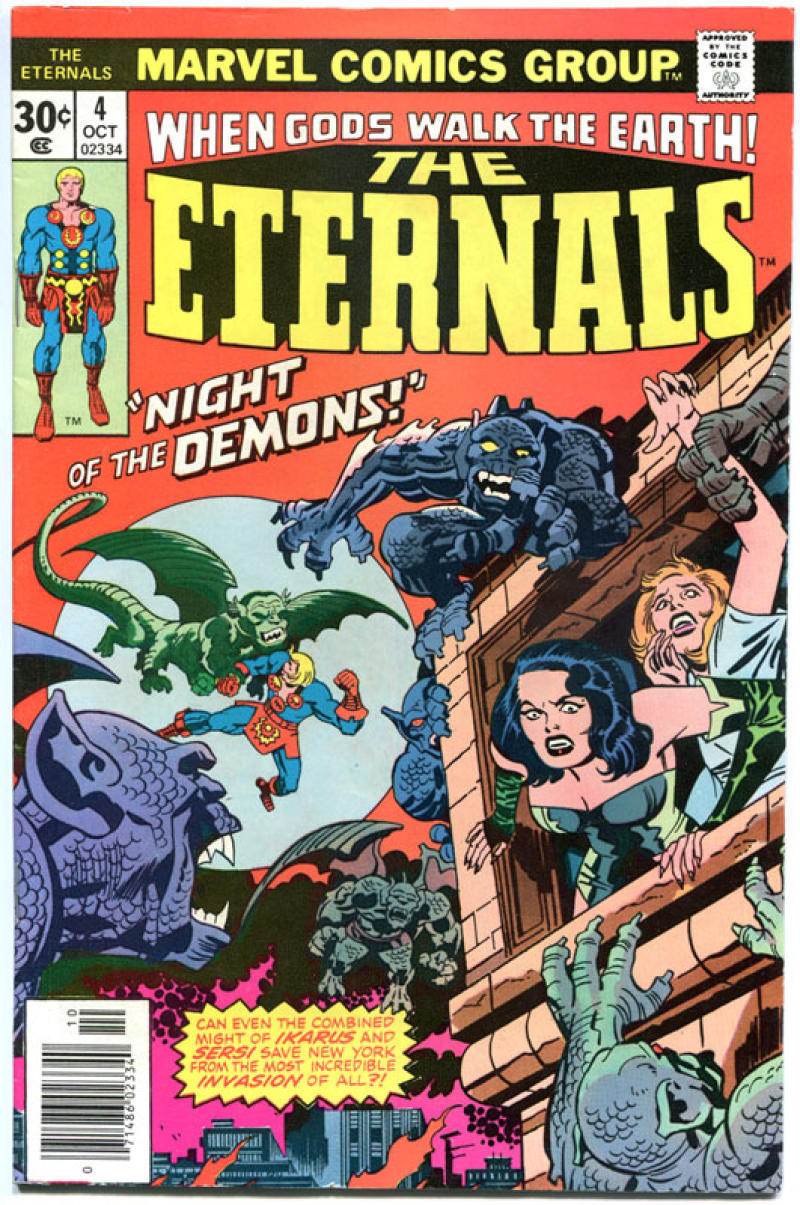 ETERNALS #4, VF/NM, Jack Kirby, Marvel, Night of the Demons, 1976, more JK in store