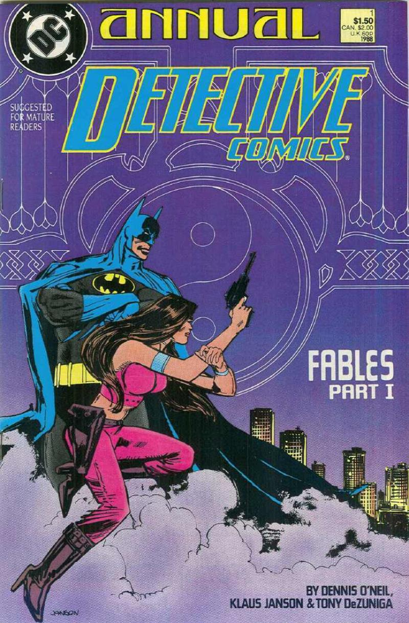 DETECTIVE #1 Annual, VF/NM, Batman, DeZuniga, 1988, Gotham City,more DC in store