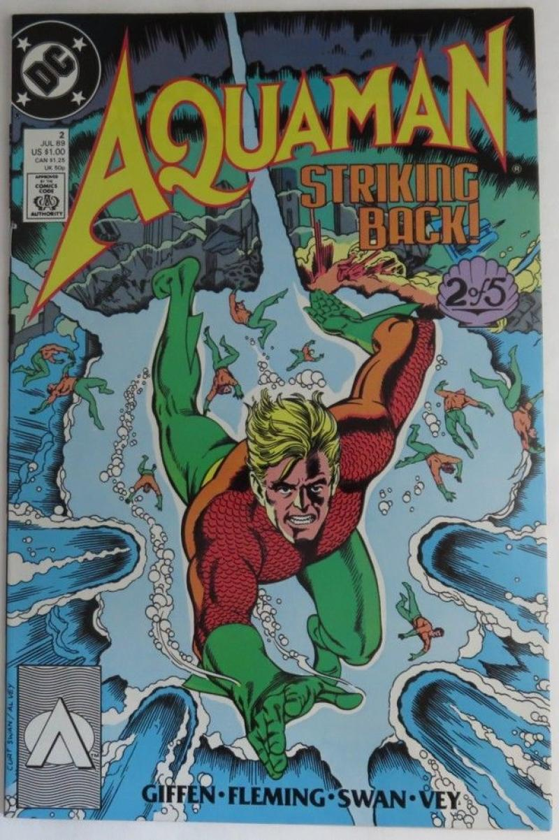 AQUAMAN #2, VF/NM, Keith Giffen, DC, 1989  more DC in store