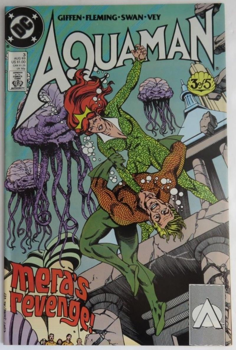 AQUAMAN #3, VF/NM, Keith Giffen, DC, 1989  more DC in store