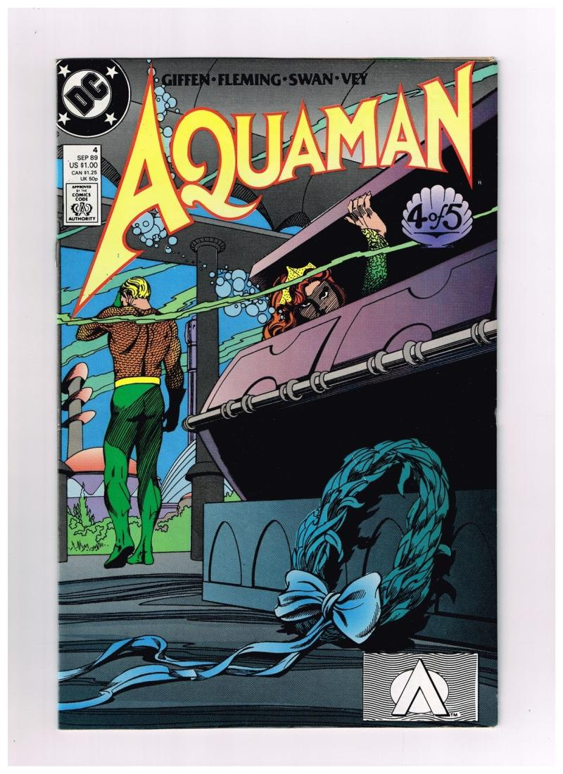 AQUAMAN #4, VF/NM, Keith Giffen, DC, 1989  more DC in store