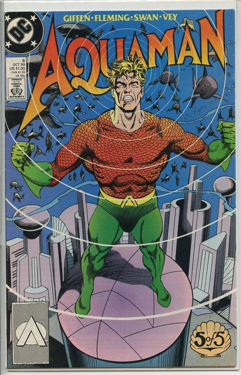 AQUAMAN #5, VF/NM, Keith Giffen, DC, 1989  more DC in store