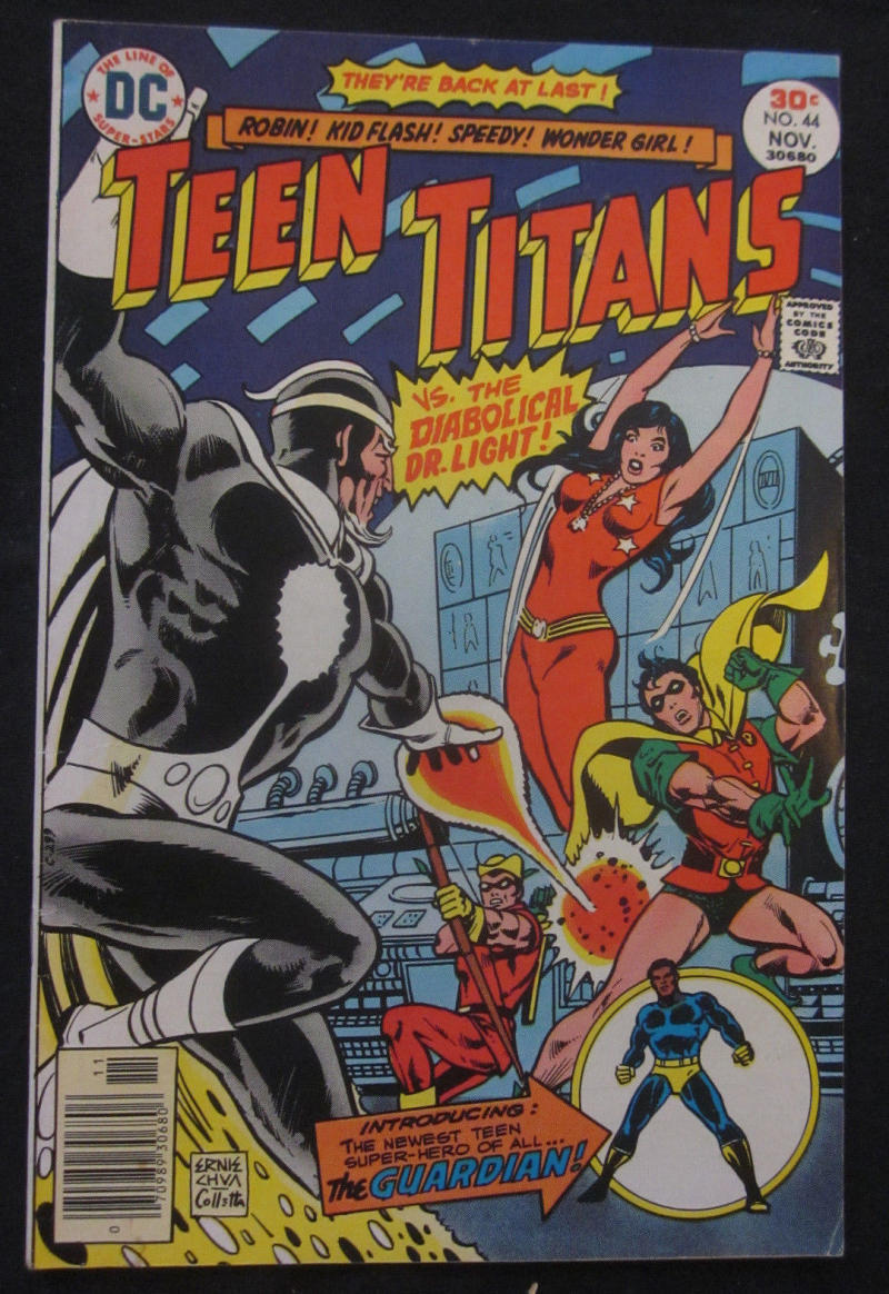 TEEN TITANS #44, VF, Wonder Girl, Dr Light, Robin, 1976, more TT in store