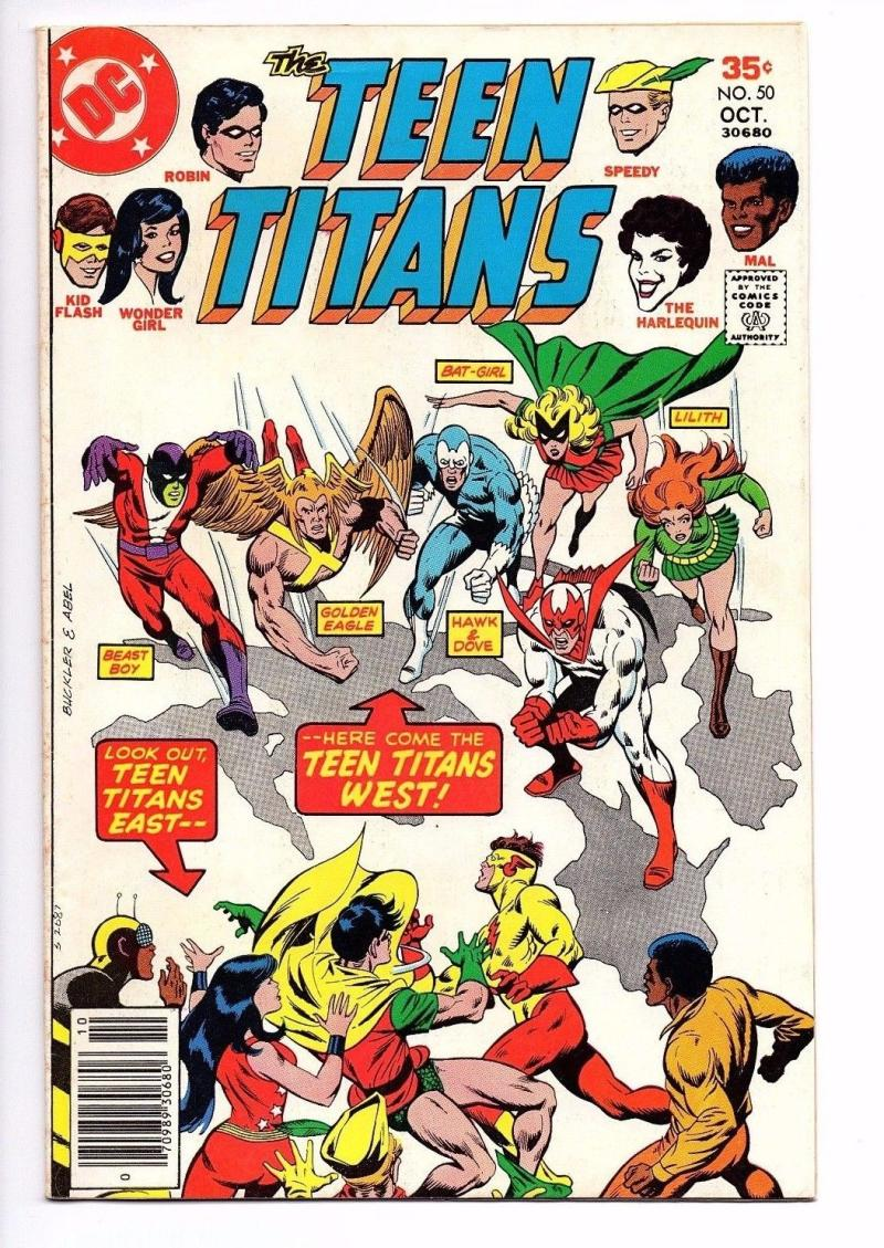 TEEN TITANS #50, FN, Wonder Girl, Joker's Daughter, Robin, 1977, more TT in store