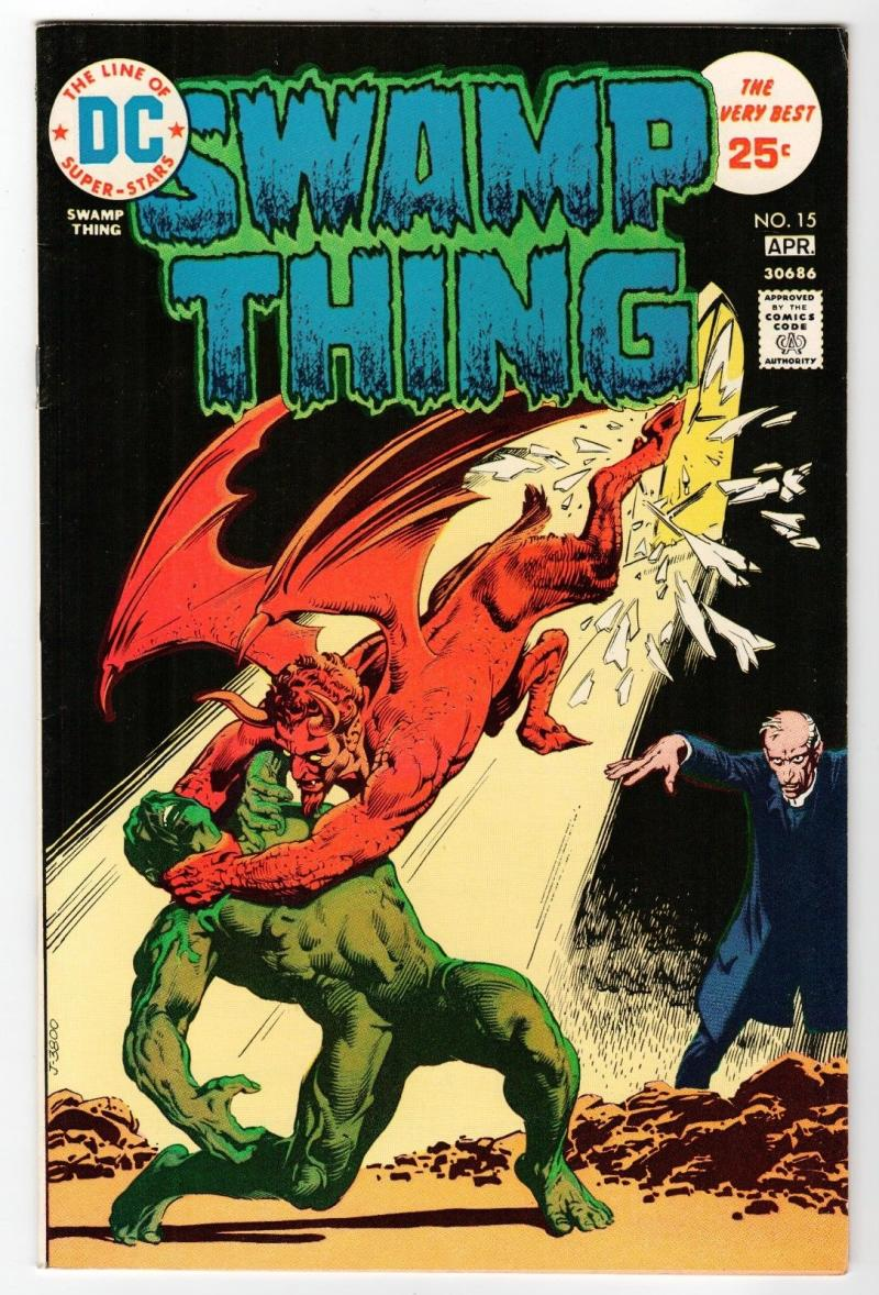 SWAMP THING #15, VF+, Horror, 1972 1975, Father Bliss, Redondo, more in store