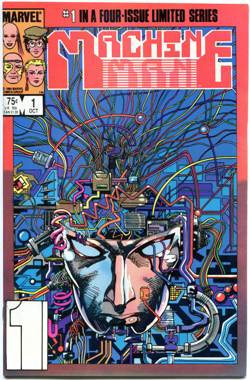 MACHINE MAN #1, VF/NM, Cyborg, Robot, 1984, Barry Smith, more Marvel in store