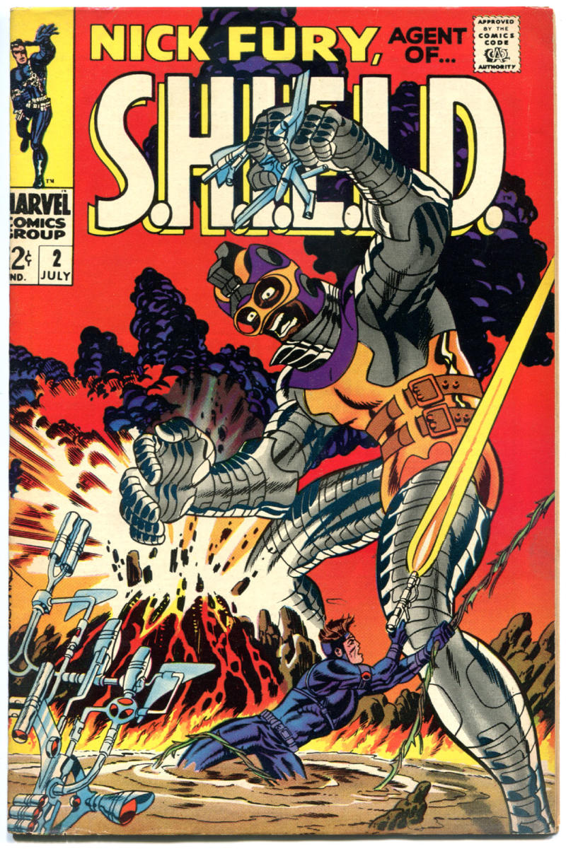 NICK FURY, AGENT of SHIELD #2, VF, Jim Steranko, 1968, more SILVER in store