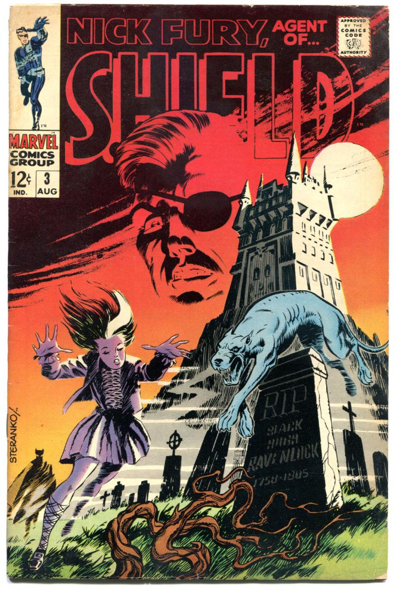 NICK FURY, AGENT of SHIELD #3, FN+, Jim Steranko, 1968, more SILVER AGE in store