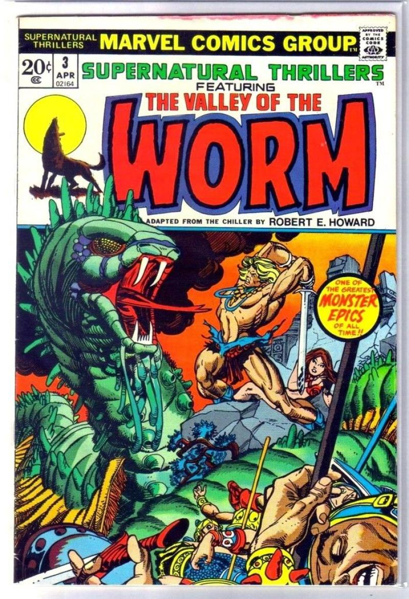 SUPERNATURAL THRILLERS #3, FN/VF, Valley of the Worm, 1972, more Horror in store