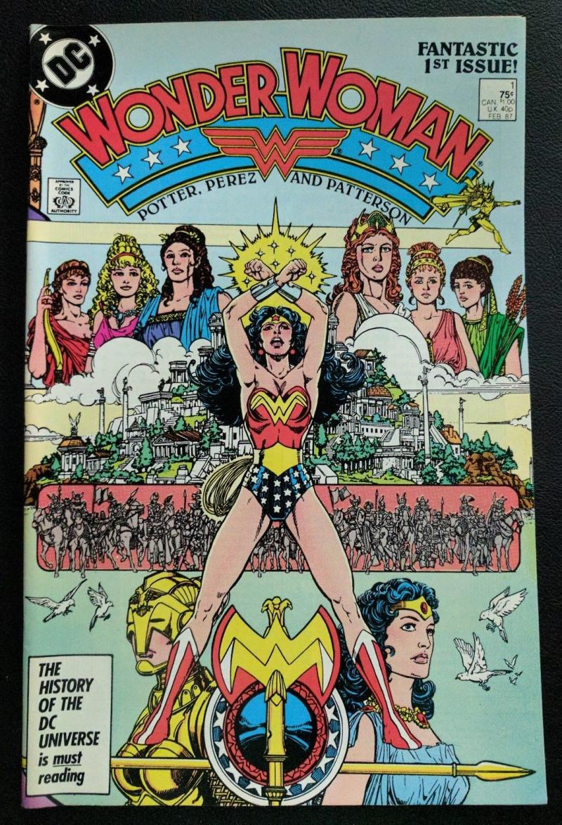 WONDER WOMAN #1, VF+, Perez, Gods, Paradise, Amazon, 1987, more WW in store
