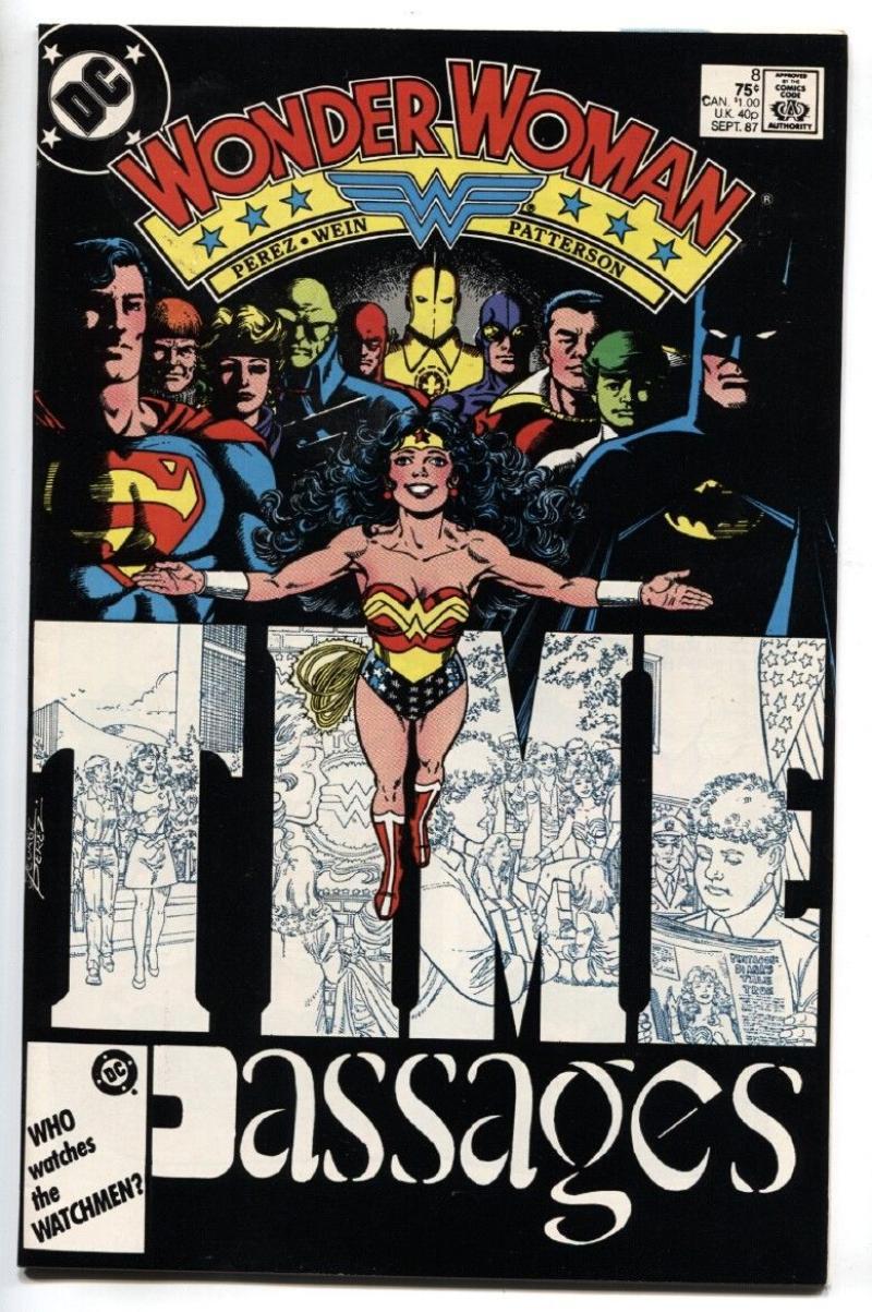WONDER WOMAN #8, VF/NM, Perez, Gods, Barbara Minerva, Cheetah, Amazon, 1987, more WW in store
