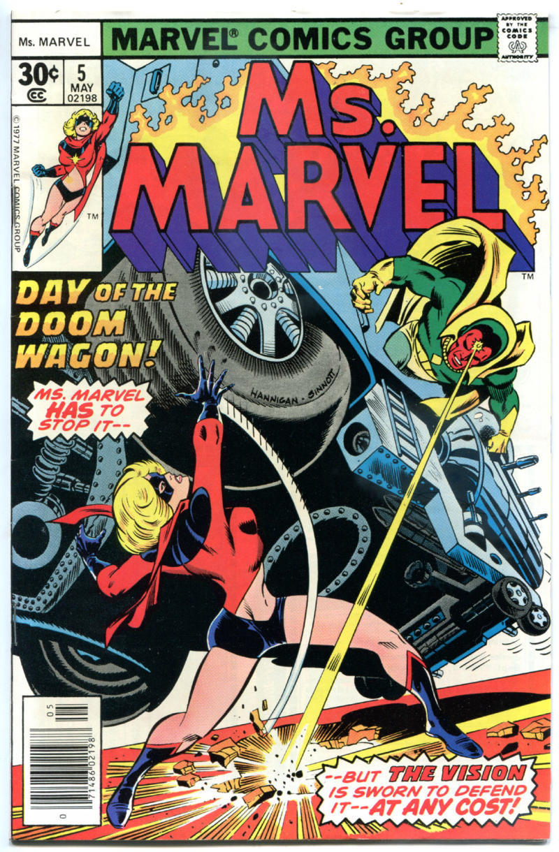 MS MARVEL #5, FN/VF, Jim Mooney, Claremont, 1977, Bronze age, more Marvel in store
