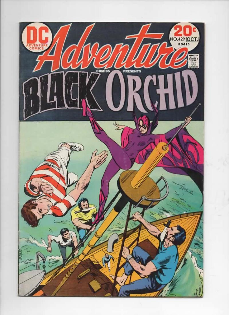 ADVENTURE COMICS #429, FN+, Tony DeZuniga, Black Orchid, 1938 1973, more in store