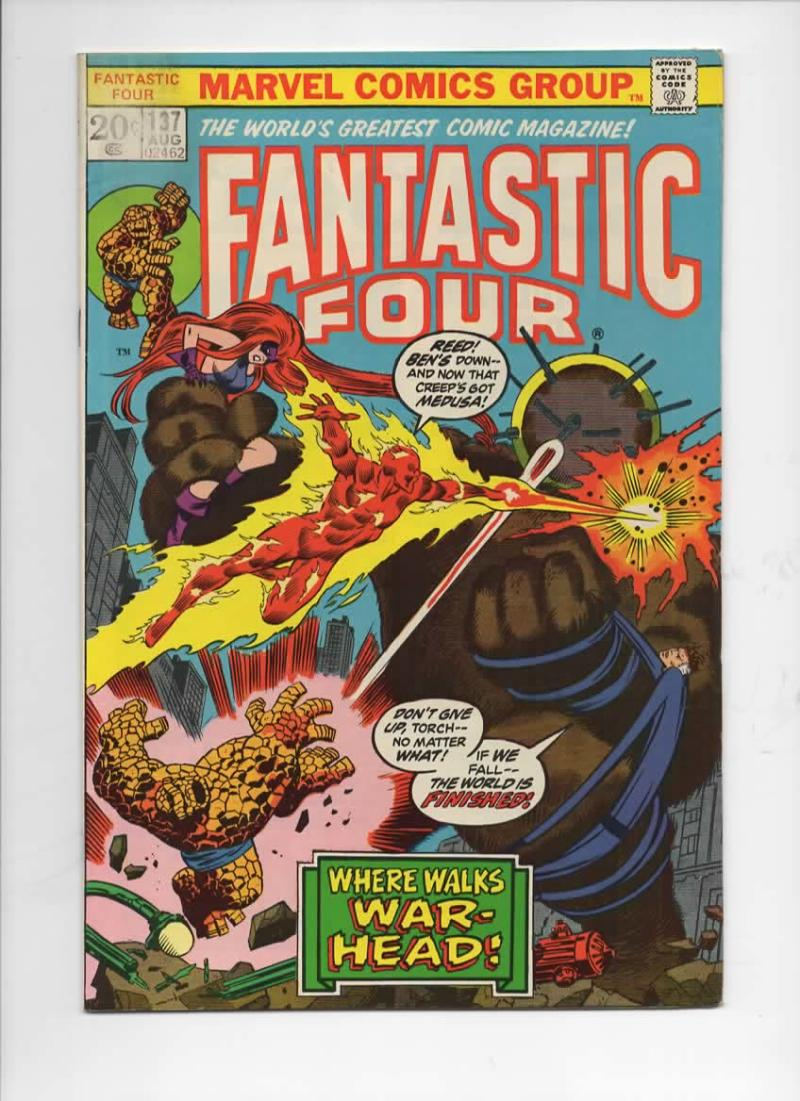 FANTASTIC FOUR #137, FN, Shaper of Worlds, Buscema, 1961, more Marvel  in store