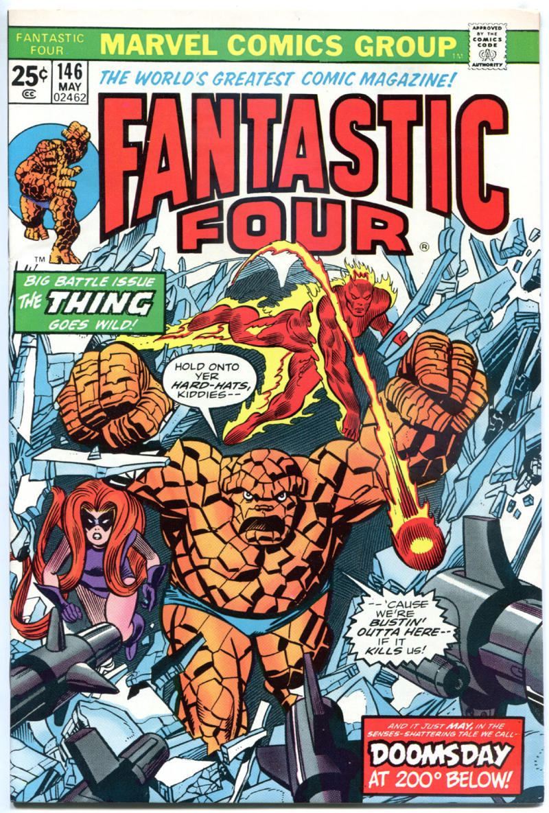 FANTASTIC FOUR #146, NM-, Medusa, Doomsday, Ross Andru, 1961, more Marvel in store
