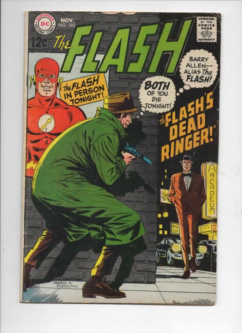 FLASH #183,  VG+, Flash's Dead Ringer, 1968, more in store, DC