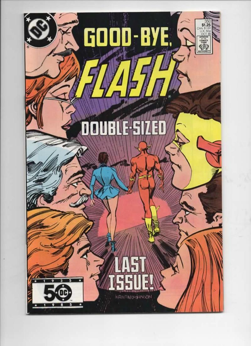 FLASH #350, VF/NM, Last issue of this series, 1985, more in store, DC